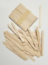 200 Pieces Wood Sticks Natural Wooden Craft Sticks Popsicle 4-1/2