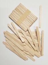 200 Pieces Wood Sticks Natural Wooden Craft Sticks Popsicle 4-1/2