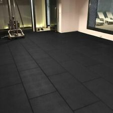 Cannons UK Rubber Free weight mats 1m x 50cm x 20mm Gym Mat SOLID Freeweight mat