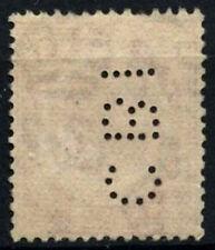 "Malaya STRAITS adoquín. 1921-33 SG#229, 6c Scarlet KGV utilizado Perfin ""CBI"" #D28137"