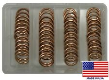 (50) Copper Crush-able Oil Drain Plug Washer Gasket Assortment Kit - 12MM & 14MM