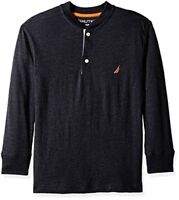 Nautica Childrens Apparel Big Boys The Standard Long Sleeve Henley Tee