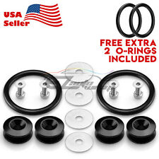 *Black JDM Quick Release Fasteners Car Bumpers Trunk Fender Hatch Lids Kit