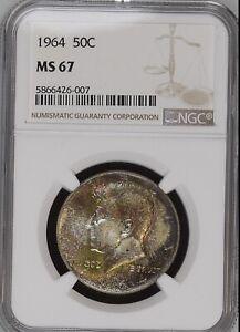 1964 50C Kennedy Half Dollar NGC MS67                5866426-007