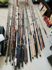 Penn, Daiwa, Shakespeare Fishing Rods - 31 Mixed Rods New and Used Wooden Stocks