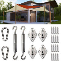 6 inch Rectangle Square Sun Shade Sail Stainless Steel Hardware Installation Kit