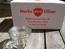 12 pezzi WECK ® 35ml caduta forma/barattoli di vetro/einweckglas/caramella vetro