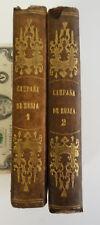ANTIQUE BOOK RUSSIA CAMPAIGN 1812 NAPOLEON SPANISH LABAUME CAMPANA DE RUSIA MAPS