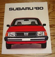 Original 1980 Subaru Full Line Sales Brochure 80 GL DL STD GLF