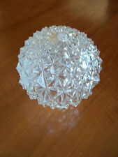 """Vintage Pressed Glass 6"""" Round Light Fixture Shade, 3 1/4"""" Fitter, Free S/H"""