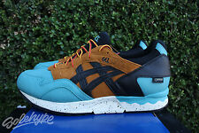 ASICS GEL LYTE V SZ 10.5 KING FISHER BLACK TAN GORETEX PACK HL6E2 4890
