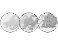 2020 James Bond UK £5 Brilliant Uncirculated – 3 Coin Series
