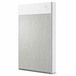 Seagate Backup Plus Ultra Touch 2TB External Hard Drive Portable HDD - White