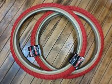 """New ListingTwo New Red/Skinwall Comp Iii 20"""" X 2.125 Bmx Bicycle Tires"""
