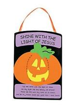1 Christian Pumpkin Banner Kit Shine with the Light of Jesus Craft Kit New