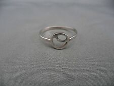 Vintage Art Modern Circle Circular Shaped Sterling Silver Ring Sz 6.5 Geometric