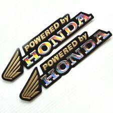 HONDA POWER ,3D EFFECT  SET OF 2 GOLD   & SILVER FOIL DECALS.