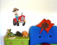 Bauer Trecker Traktor Wandtattoo Aufkleber Kinderzimmer  4 Größen