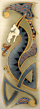 Celtic Nordic Dragon Art Poster Print