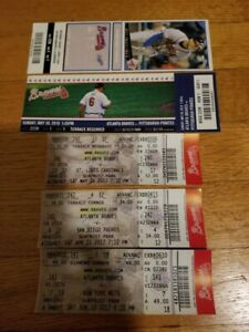 Atlanta Braves Baseball Games Lot of 65 Tickets  All Years from 2009 to 2019