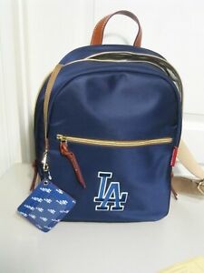 DOONEY & BOURKE MLB    LA DODGERS BASEBALL   NAVY BLUE NYLON BACKPACK     NWT