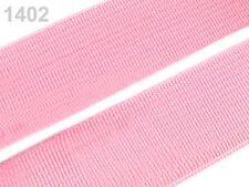 2 METER Gummiband Gummibänder Band  20 mm  rosa  NEUWARE (Grundpreis: 1,30€/m)