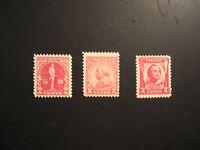 United States Scott 688 - 690 Braddock, Von Steuben and Pulaski Issues from 1930