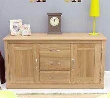 Mobel solid oak furniture large dining room storage sideboard and felt pads