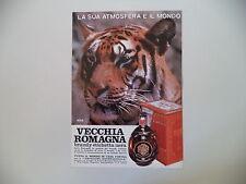 advertising Pubblicità 1970 BRANDY VECCHIA ROMAGNA - ETICHETTA NERA