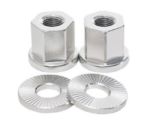 2 x SHADOW CONSPIRACY BMX BICYCLE AXLE NUTS WASHERS 3/8 FIT HARO CULT SE SILVER