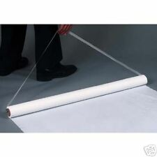50' White Poly (Plastic)  Wedding Aisle Runner W/Tape&Rope