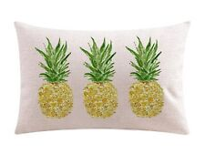 Ink Painting Fresh Fruit Yellow Pineapple Cotton Linen Throw Waist Lumbar Pillow