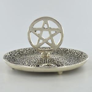 Incense Plate Pentagram Symbol Home Decor Fragrance Wicca Alter Accessory 40184
