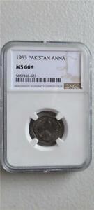 Pakistan 1 Anna 1953 NGC MS 66+