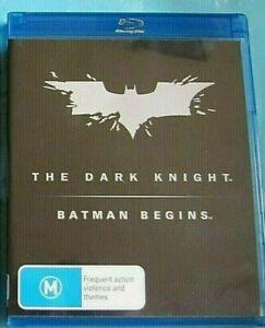 THE DARK KNIGHT / BATMAN BEGINS BLU-RAY 3 Discs see below