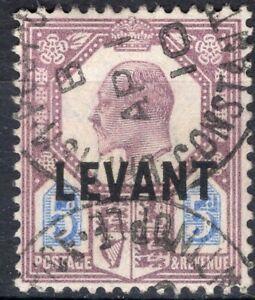 UK GB TURKEY BRITISH OFFICE ABROAD LEVANT 1905 STAMP Sc. # 22 USED