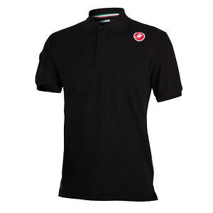 Castelli Stelvio Men's Casual Polo Shirt Black Size Large