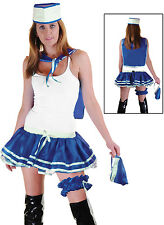 Ladies  Nautical Navy Sailor Costume Adults Fancy Dress Women Outfit