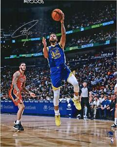 "Stephen Curry Golden State Warriors Signed 16"" x 20"" Lay Up vs Pelicans Photo"