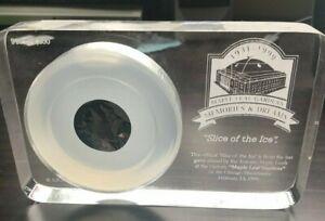1999 NHL Hockey Toronto Maple Leaf Gardens Slice of the Ice Leafs Ltd Ed + COA