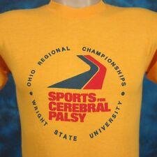 vtg 80s WRIGHT STATE UNIVERSITY CEREBRAL PALSY SPORTS PAPER THIN T-Shirt XS ohio