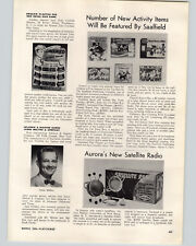1958 PAPER AD Article Aurora's New Satelite Radio Pagco Jet Race Cars Drag Strip