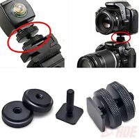 "Pro 1/4""-20 Hot Cold Shoe Tripod Mount Screw Adapter to Flash Camera Black"