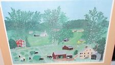 """GRANDMA MOSES """"HAYING TIME"""" LARGE COLOR LITHOGRAPH"""
