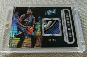 Karl Anthony Towns RC #/10 2016 National Convention Basketball Relics INFINITE