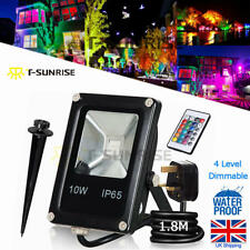 10W RGB IP65 Outdoor Garden Wall Security LED Floodlight Flood Light with Remote