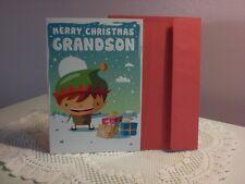 For Arts Sake - Christmas Card - Merry Christmas Grandson