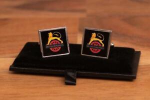 British Rail BR Lion and Wheel cufflinks in presentation gift box.