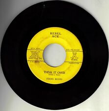 """VERY RARE - EDDIE BEERS! - """"I CAN'T FACE LIFE ALONE"""" B/W """"THINK IT OVER""""45 VG+!!"""
