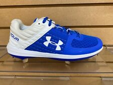 UnderArmour Yard Low ST Royal/ White Baseball Cleat-Style #3021711-Brand new